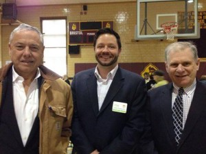 Paul Schmid, Jason Wentworth, and Commissioner John Lebeaux