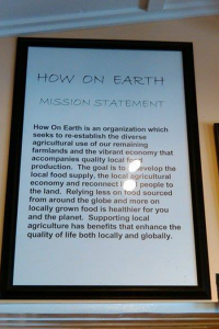How on Earth Mission Statement