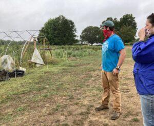 SEMAP Director Karen Schwalbe at Sharing the Harvest Farm in Dartmouth, MA.